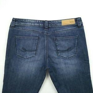 EDC-by-ESPRIT-FIVE-Low-Rise-Crop-Blue-Stretch-Denim-Jeans-Women-039-s-Size-30-W32