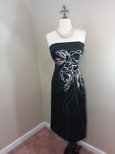 631e8f81b5dba Image is loading White-house-black-market-WHBM-Black-Embroidered-floral-