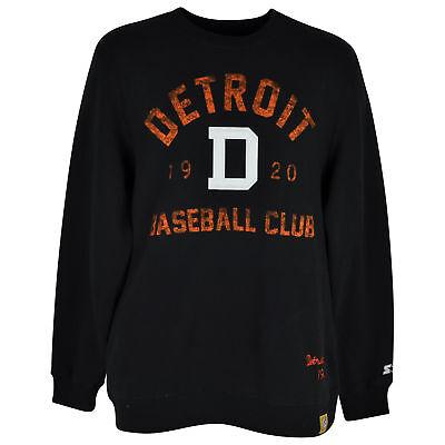 Sport Weitere Ballsportarten AnpassungsfäHig Mlb Negro Nationalen League Starter Detroit Stars Pullover Sweatshirt Black Mens