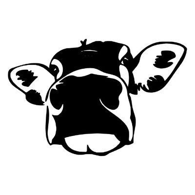 Sticker decal wall fridge children room animal decorate cow black white