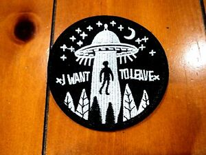 New-UFO-Alien-Beam-Embroidered-Patch-Applique-Badge-Iron-Sew-On-Roswell-Crop