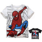 Boys Girls 2016 Spiderman Toddler Kids Short Sleeve T-Shirt Tops Blouse Clothes