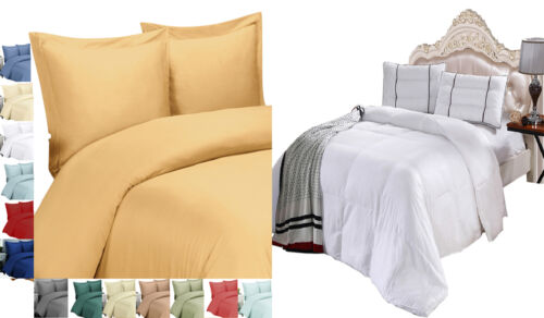 Super Soft 100% Viscose from Bamboo Duvet Cover & Down Alternative Comforter Set