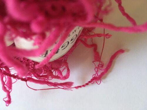 Crystal Palace Yarns Squiggle #2265 Fuchsia Pink Pig-Tail Eyelash Carry-Along!