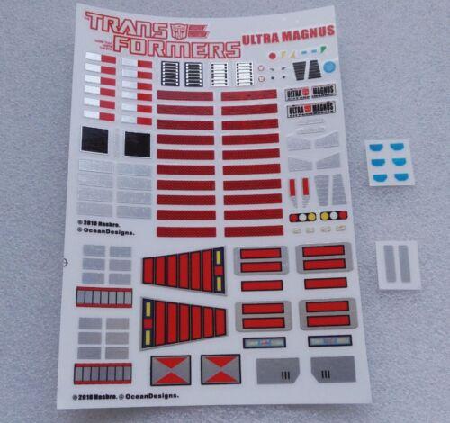 Ocean X Hasbro 2018 Robot Autobots Decal Sticker For MP22 Ultra Magnus