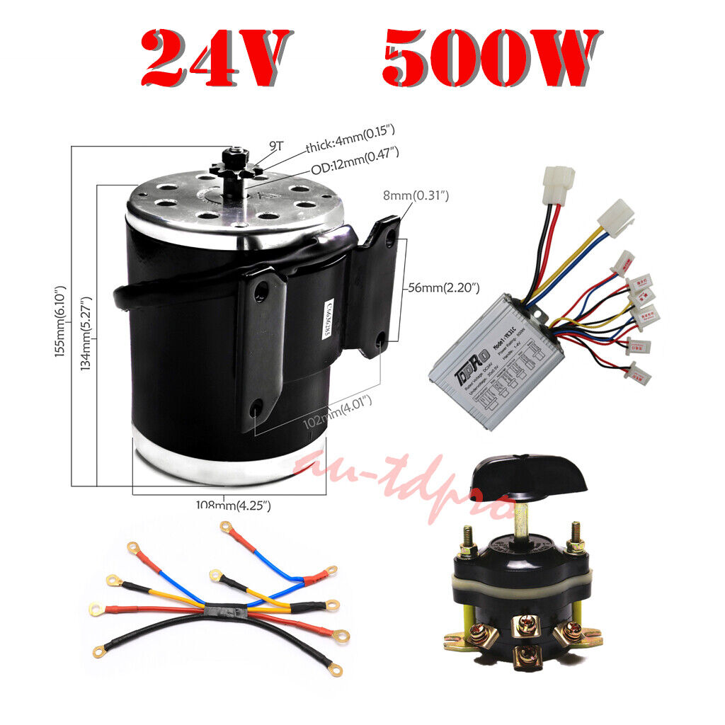 500W 24V Brush Electric Motor Controller Forward Reverse Switch Wiring Harness