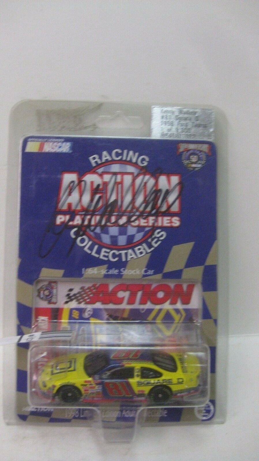 Rare Nascar Kenny Wallace Autographed Ford Taurus 1 64 Diecast NEW dc1474