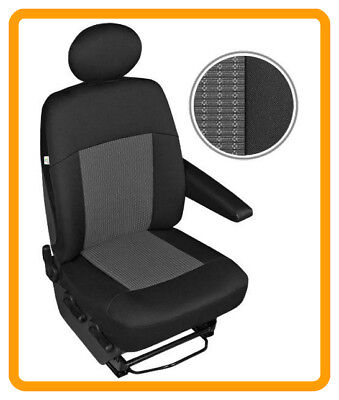 DOUBLE MERCEDES SPRINTER-LUXURY QUILTED DIAMOND LEATHER VAN SEAT COVERS SINGLE