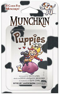 Munchkin-Puppies-Expansion-Card-Game-Add-30-Cards-Steve-Jackson-Booster-SJG-4216