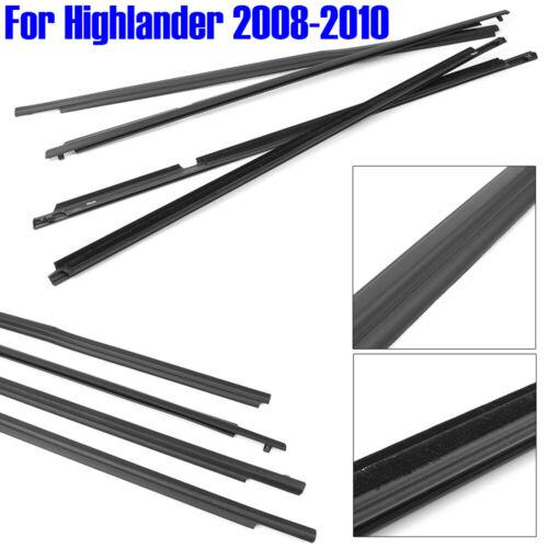 Weatherstrip Window Molding Trim Sill Seal Belt For Toyota Highlander 2008-2010