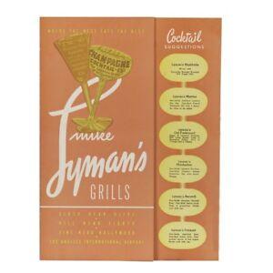 mike lyman s grill vintage restaurant menu reproduction print