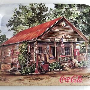 Coca-Cola-Ad-Tray-Old-Sautee-Store-Georgia-Jeanne-Mack-Coke-1998-Made-In-USA