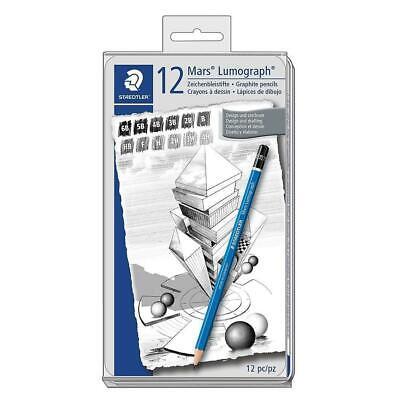 Staedtler 12 Mars Lumograph Drawing Pencils Set 100 G12 Assorted New W Tin 4007817104729 Ebay