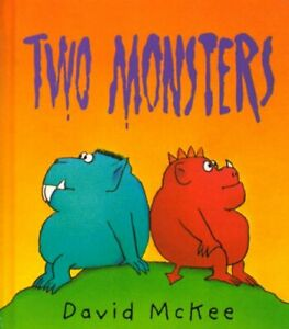 Two-Monsters-by-Mckee-David-Hardback-Book-The-Fast-Free-Shipping