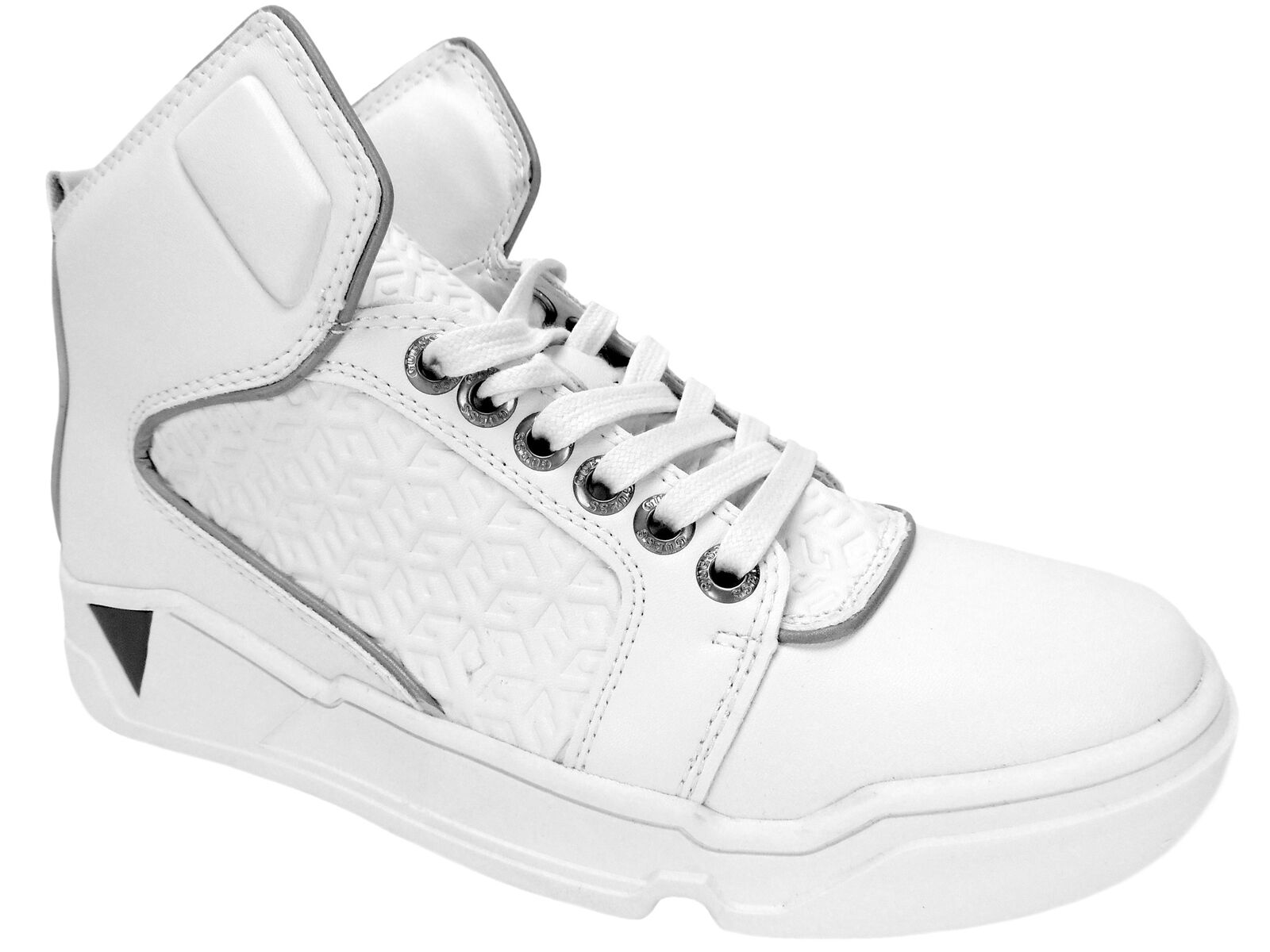 GUESS para hombre Brice alta Tops Moda Tenis blancoo M