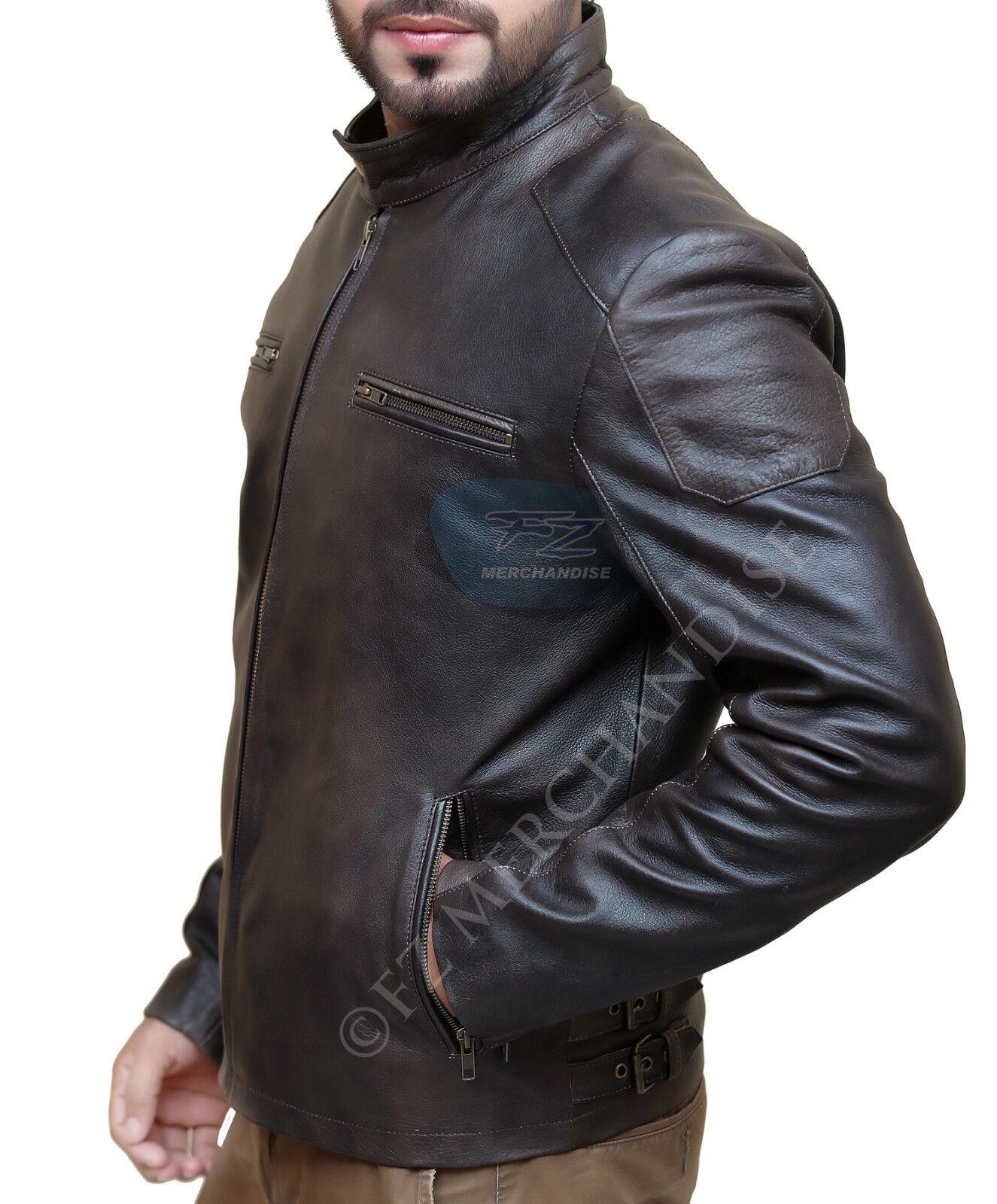 Giacca di pelle CAPITAN CAPITAN CAPITAN AMERICA CIVIL WAR Steve Rogers marrone distressed Giacca a6af2f