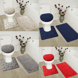 new memory foam bathroom set design stands out with rubber backing rh ebay co uk For Memory Foam Bathroom Mats For Memory Foam Bathroom Mats