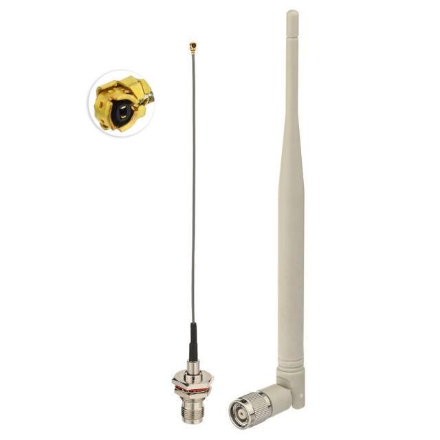 WiFi 2.4Ghz 5dBi RP-TNC Omni Antenna,15cm IPX IPEX U.FL to RP-TNC  Cable
