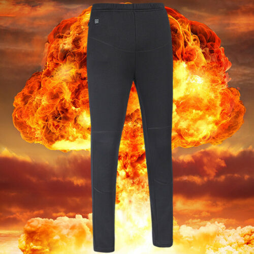 Mens Womens USB Electric Heated Warm Pants Winter Warmer Heating Ski Trousers