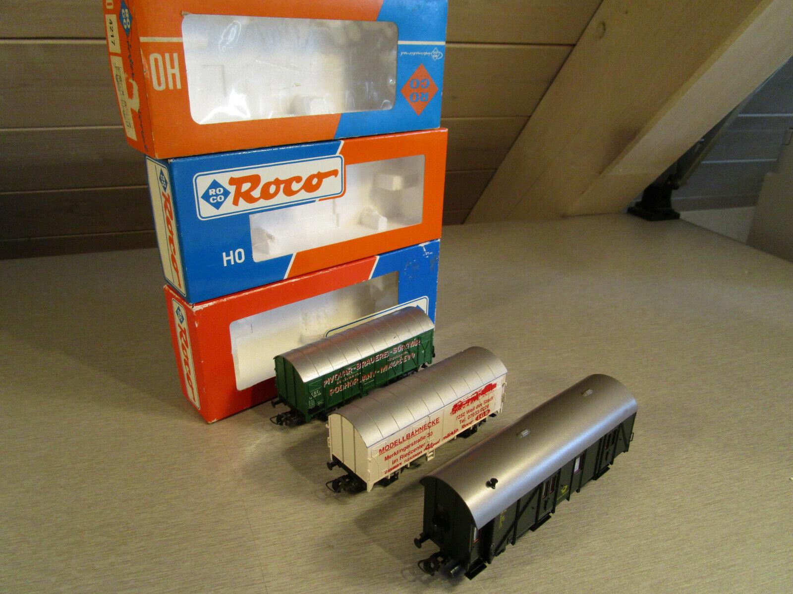 3x Roco 4217 4217 4217 usw. Postwagen Werbewagen Bierwagen H0    Shop  608c6e