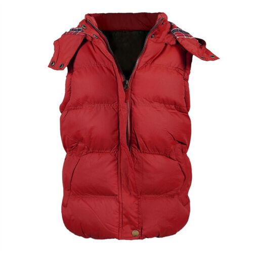 Ladies Womens Gilet Bodywarmer Hooded Jacket Padded Winter Jacket 8 10 12 14 16