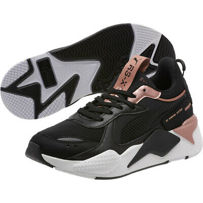 Women's Puma RS-X Trophy Black/Rose Gold 370752-04 | eBay