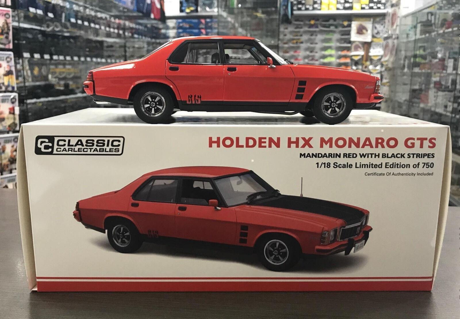1976 holden hx gts mandarin rote 1,18 skala druckguss - modell - auto