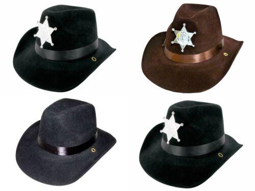 Sheriffhut Karneval Fasching Cowboyhut NEU Cowboy Westernhut mit Filzüberzug u