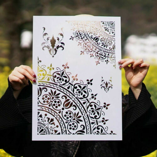 Mandala Stencils DIY Craft For Walls Painting Scrapbooking Stamping Stamp Album