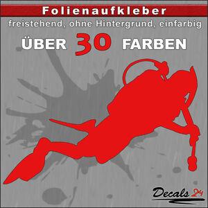 Taucher-Aufkleber-Folienaufkleber-Auto-Motorrad-Tauchen-Sport-30-Farben-12cm
