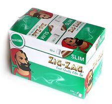GENUINE ZIG ZAG ZIGZAG FILTER TIPS SLIM MENTHOL BOX OF 10 BAGSx150