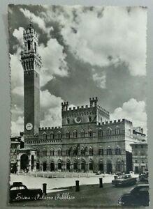 Cartolina-Siena-Palazzo-Pubblico-Viaggiata-anno-1955-bianco-e-nero