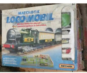 Matchbox-Eisenbahn-Set-Loco-Mobil-Zug-Vintage-Battarie-betrieben-in-OVP-Raritaet