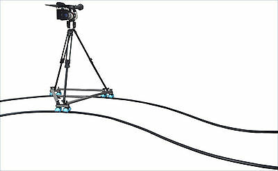 Proaim Camera Swift Dolly 36ft Flexible Track wheels Tripod for DSLR 5D II III