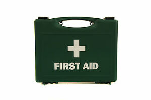 10 Person First Aid Medical Kit Box - Workplace Travel Home Car Van