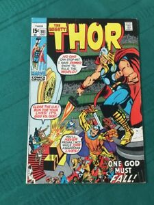 Thor-181-Very-Fine-Off-White-Pages-Bright-Cover-Colors-Neil-Adams-Art