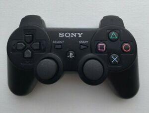 Sony Playstation 3 PS3 DualShock 3 Controller Black Genuine OEM