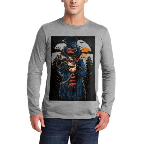 Mad Hatter Horror T-Shirt Night Moon Dark Rabbit Hat Death Evil Skull Bat A553LS