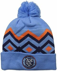 5d995a84e350a Adidas MLS New York City FC Soccer Futbol Cuff Knit Hat Winter Cap ...