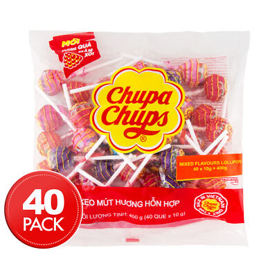 Chupa Chups Assorted Lollipops 40pk