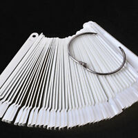 50Pcs Nail Art False Tips Sticks Polish Practice Display Fan Board Design Tools