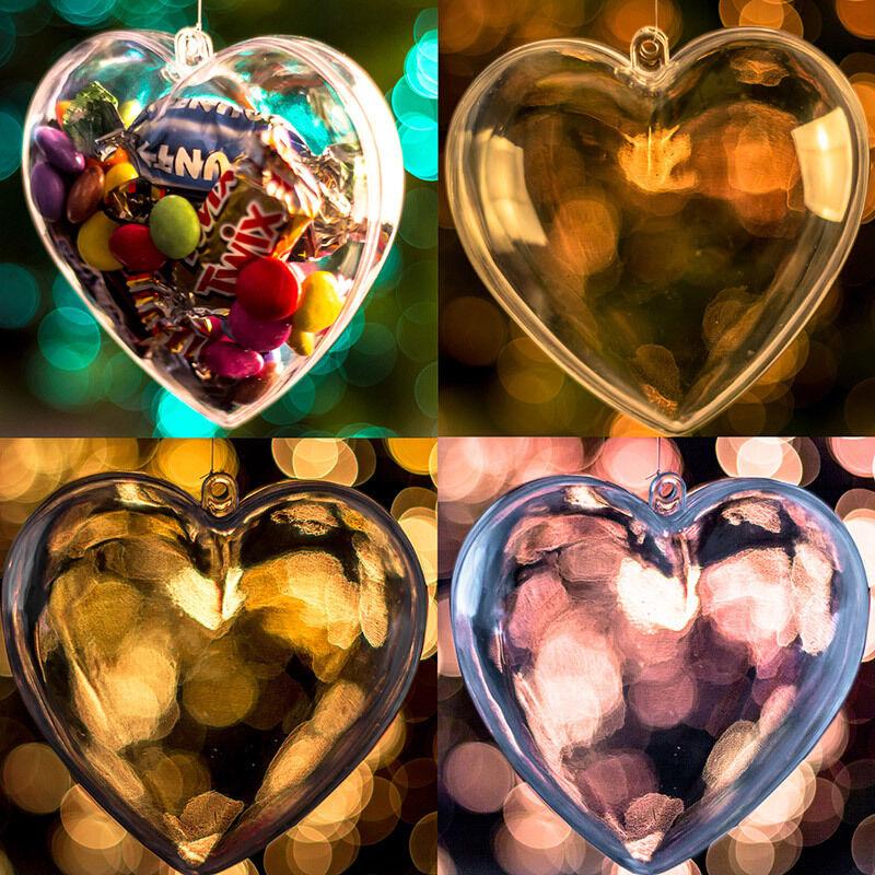 X40 Tiele Hearts Hearts Hearts Weihnachtsdekorationen Garnitur Klar Spielerei Leere Befüllbar 080701
