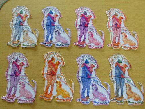 Tattered Lace Die Cuts Charisma LOVE AFFAIR Romantic Couple Dog x 4 pairs 8 cols