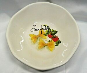 Effetti-d-039-Arte-Made-in-Italy-Soup-Pasta-Bowl-Vegetables-Pastas-Farfolle