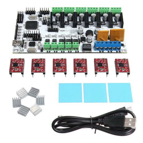 Geeetech Rumba ATmega2560 Reprap Prusa 3D printer Control board & A4988