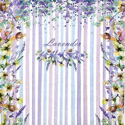 20x Lunch Paper Napkins Serviettes Party, Decoupage - Vintage Lavender
