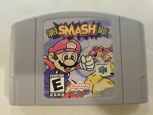 Super Smash Bros Nintendo 64 N64 auténtico cartucho de juego probadas Raro Envío Gratis