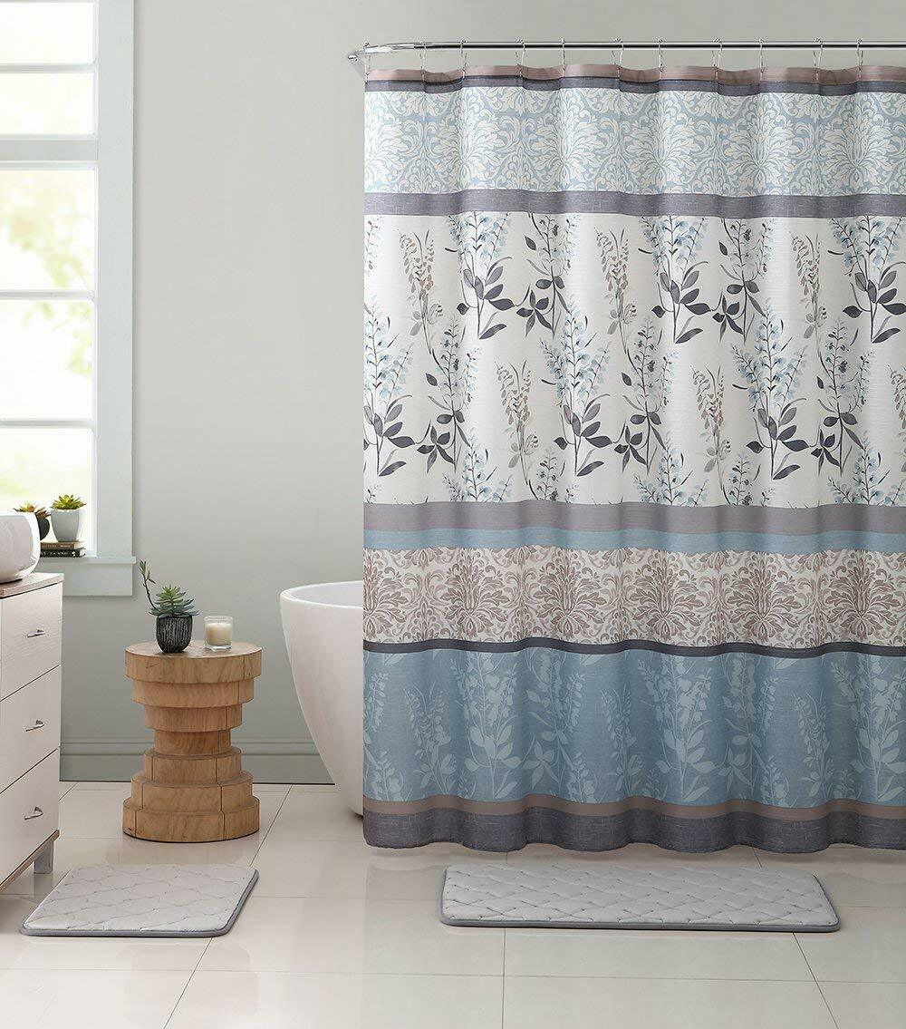 Ashley Burgundy Red Canvas Fabric Shower Curtain Contemporary Floral Bordered For Sale Online Ebay