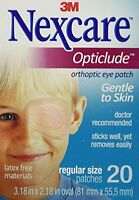 4 Pack - Nexcare Opticlude Elastic Bandages For Orthoptic Eye Patch, 20 Each on sale