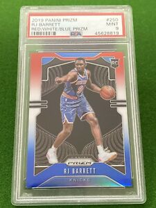 2019-20 RJ Barrett Rookie RC 🔥 Red White & Blue 🔥 PSA 9 MINT 🔥 NY Knicks